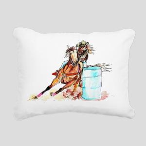 10t_barrelracer Rectangular Canvas Pillow