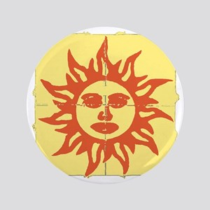 "Orange Sunshine Tab 3.5"" Button"
