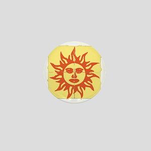 Orange Sunshine Tab Mini Button