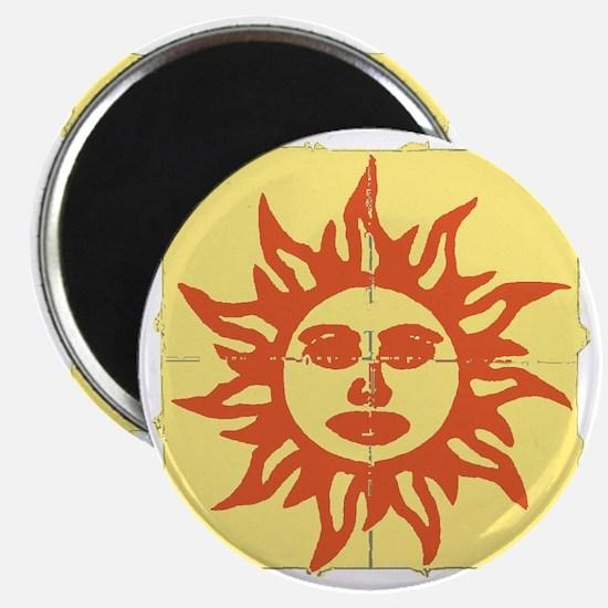Orange Sunshine Tab Magnet