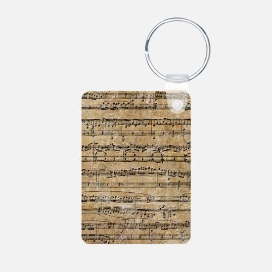 SheetMusic1Inook Aluminum Photo Keychain