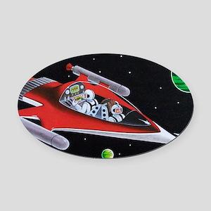 ROCKET LAB Oval Car Magnet