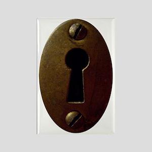 Keyhole Rectangle Magnet