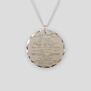 NoteCardMenu2 Necklace Circle Charm