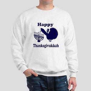 Happy Thanksukkah 3 navy Sweatshirt