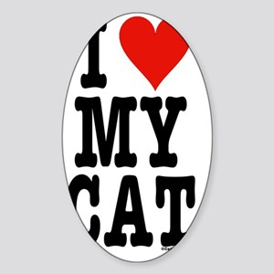 HeartCatJournal5.5x8.5 Sticker (Oval)