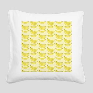 Banana FlipFlops Square Canvas Pillow