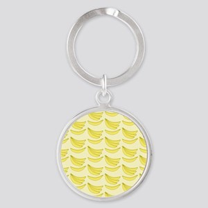 Banana FlipFlops Round Keychain