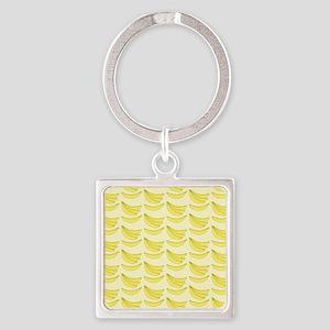 Banana FlipFlops Square Keychain