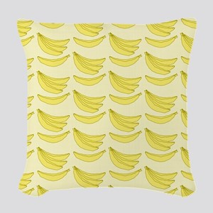 Banana FlipFlops Woven Throw Pillow