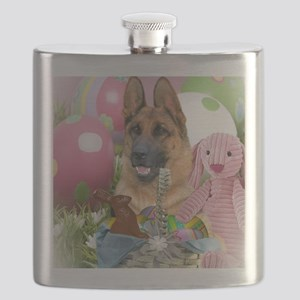 German Shepherd Easter Cards Flask