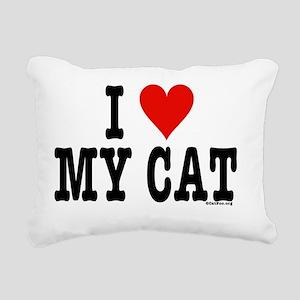 HeartCatPostcard4x6 Rectangular Canvas Pillow