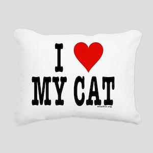 HeartCatNoteCard4.5x5.75 Rectangular Canvas Pillow