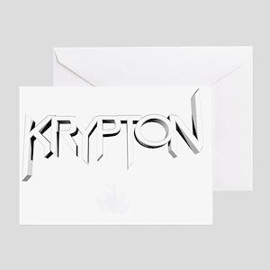 krypton logo white Greeting Card