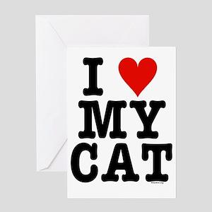 *HeartCatDuvetTwin-a Greeting Card