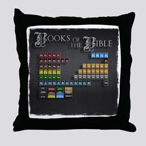 books of the bible10x10 Throw Pillow