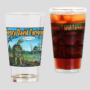 Henry David Tortoise Drinking Glass