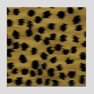 cheetah-brn2-ff Tile Coaster