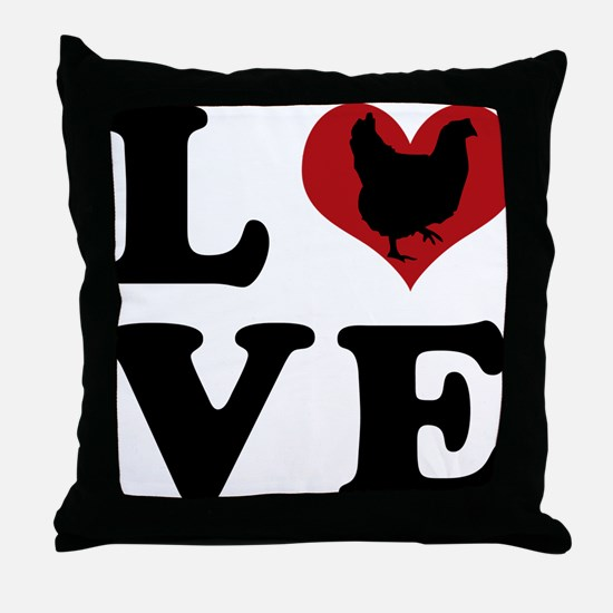 chick-love Throw Pillow