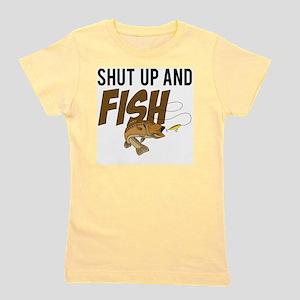 shut up and fish Girl's Tee