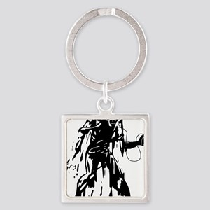 idrone zombie transparent inverted Square Keychain