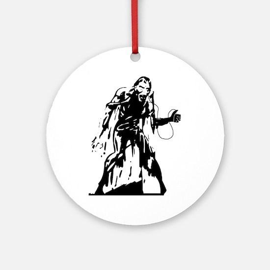 idrone zombie transparent inverted. Round Ornament