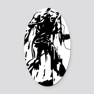 idrone zombie transparent inverted Oval Car Magnet
