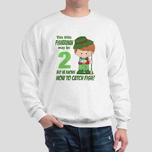 two year old fisherman Sweatshirt