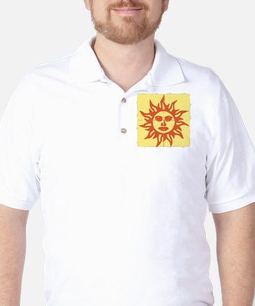 Orange Sunshine Tab Golf Shirt