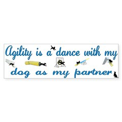 Agility Dance Bumper Bumper Sticker
