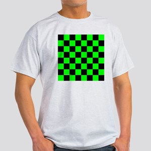 tileboxgrncheckerboard Light T-Shirt