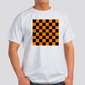 tileboxorangecheckerboard Light T-Shirt