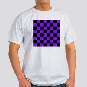 tileboxpurpcheckerboard Light T-Shirt