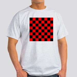 tileboxredcheckerboard Light T-Shirt