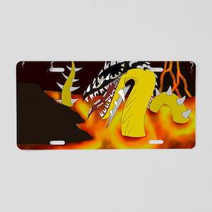 Volcano Dragon Aluminum License Plate