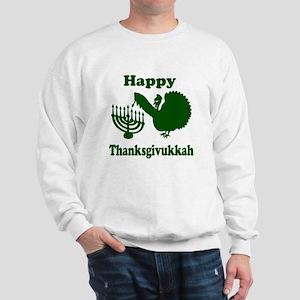 Happy Thanksukkah 3 green Sweatshirt