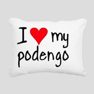 iheartpodengo Rectangular Canvas Pillow