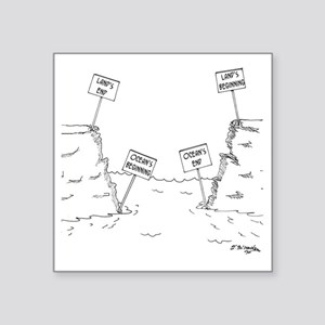 "1184_ocean_cartoon Square Sticker 3"" x 3"""