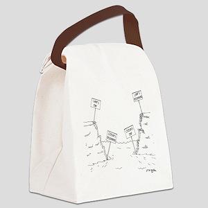 1184_ocean_cartoon Canvas Lunch Bag