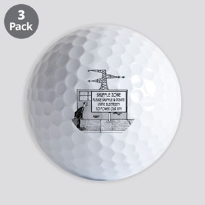 1738_electric_cartoon Golf Balls