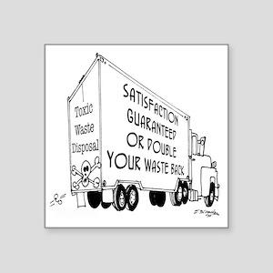 "5769_truck_cartoon Square Sticker 3"" x 3"""
