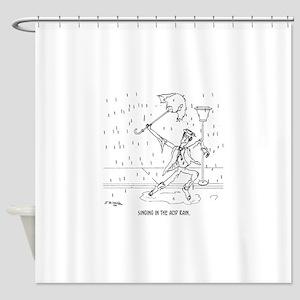 0644 Acid Rain Cartoon Shower Curtain