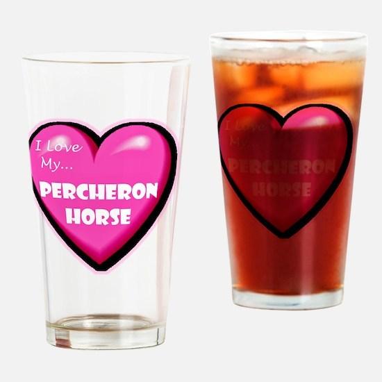 NEW-percheron-horse-heart Drinking Glass