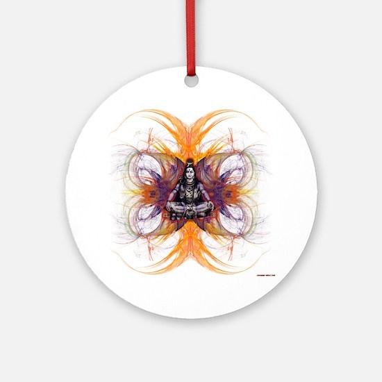 shiva on fractals Round Ornament