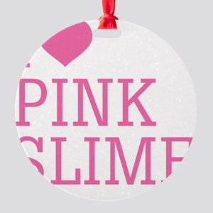 PINK_SLIME Round Ornament