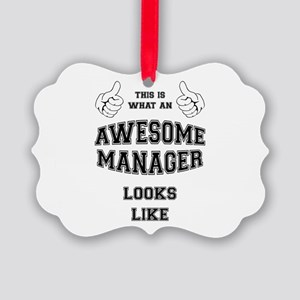 AWESOME MANAGER Picture Ornament