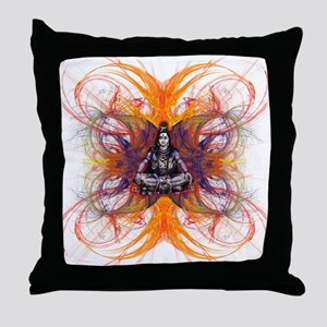 shiva on fractal-borsa front Throw Pillow