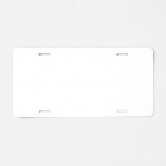 life begins - white Aluminum License Plate