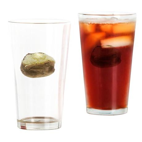 Potatoes Potate White Drinking Glass