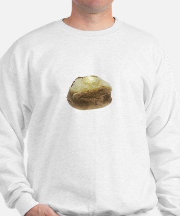 Potatoes Potate White Sweatshirt
